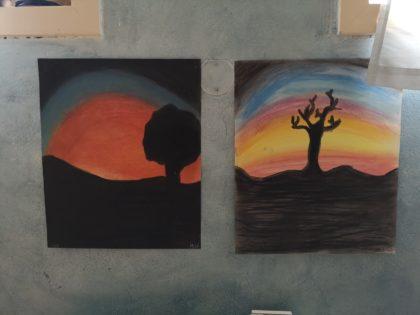 Malerier gjort av 7.klasse